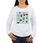 Polka Dot Cupcakes Women's Long Sleeve T-Shirt