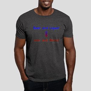 Beer and Liquor Dark T-Shirt
