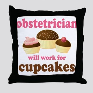 Funny Obstetrician Throw Pillow