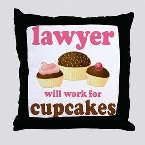 Funny Lawyer Throw Pillow