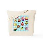 Polka Dot Cupcakes Tote Bag