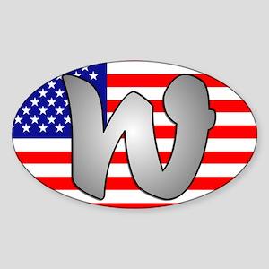 W2004, W-2004 Oval Sticker