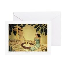 'Hawaiian Lei Makers' by Gill Greeting Cards (Pack