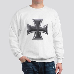 Black & Chrome Iron Cross Sweatshirt