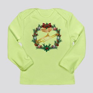 Christmas Trombone Music Long Sleeve Infant T-Shir