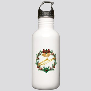 Christmas Trombone Music Stainless Water Bottle 1.