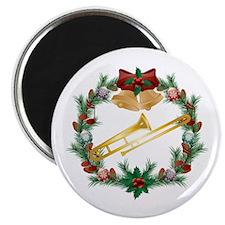Christmas Trombone Music Magnet