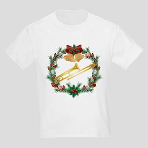 Christmas Trombone Music Kids Light T-Shirt