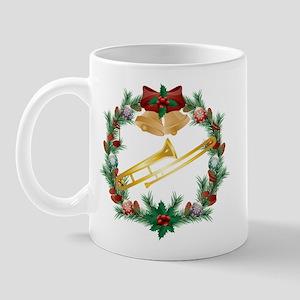 Christmas Trombone Music Mug