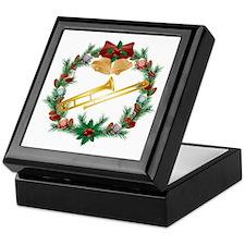 Christmas Trombone Music Keepsake Box