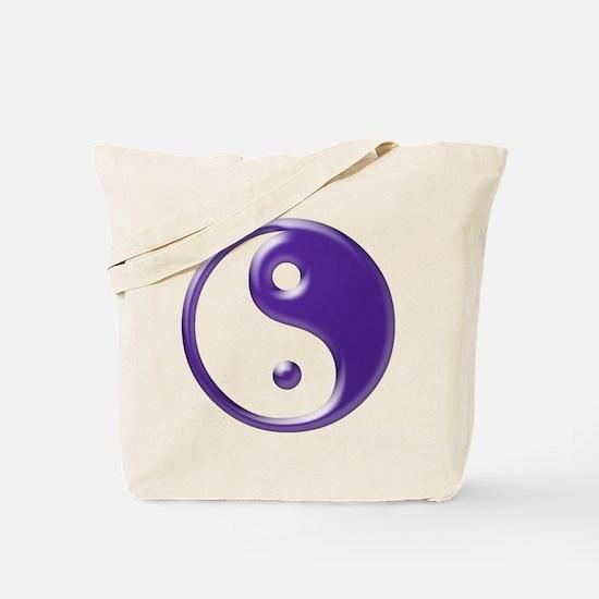Purple Yin Yang Tote Bag
