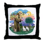 St Fran (ff) - 2 Siamese (A) Throw Pillow