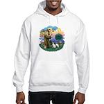 St Fran (ff) - 2 Siamese (A) Hooded Sweatshirt