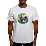 St Fran (ff) - 2 Siamese (A) Light T-Shirt