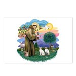 St Fran (ff) - 2 Siamese (A) Postcards (Package of