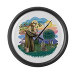 St Fran (f)-Norw. Forest Large Wall Clock
