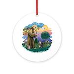 St Fran (f) - Tabby & White Ornament (Round)