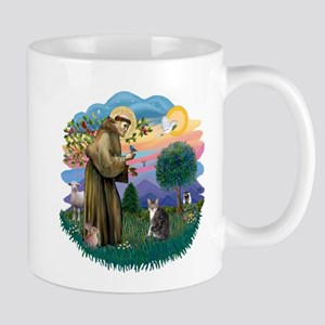 St Fran (f) - Tabby & White Mug