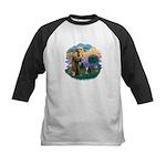 St Fran (f) - Tabby & White Kids Baseball Jersey
