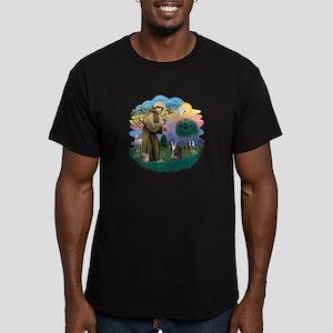 St Fran (f) - Tabby & White Men's Fitted T-Shirt (