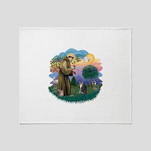 St Fran (f) - Tabby & White Throw Blanket
