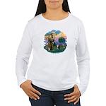 St Fran (f) - Tabby & White Women's Long Sleeve T-