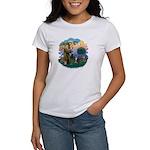 St Fran (f) - Tabby & White Women's T-Shirt