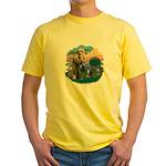 St Fran (f) - Tabby & White Yellow T-Shirt