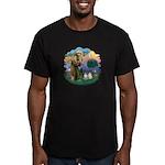 St Fran(f) - 2 Ragdolls Men's Fitted T-Shirt (dark