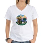 St Fran(f) - 2 Ragdolls Women's V-Neck T-Shirt