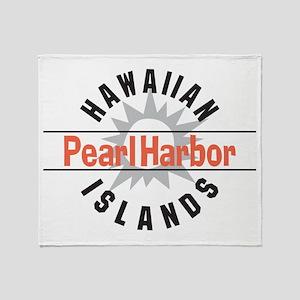 Pearl Harbor Hawaii Throw Blanket