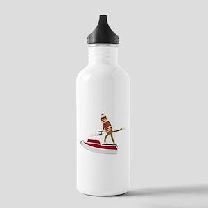 Sock Monkey Jet Ski Stainless Water Bottle 1.0L