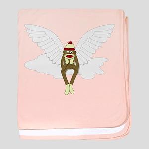 Sock Monkey Angel Infant Blanket