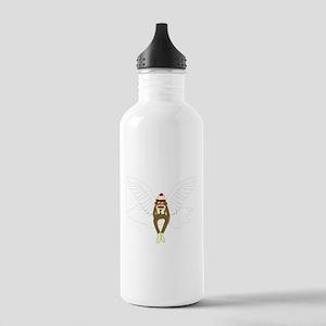 Sock Monkey Angel Stainless Water Bottle 1.0L