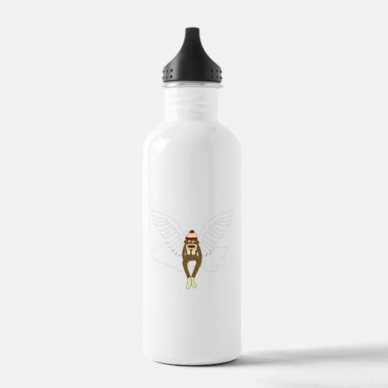 Sock Monkey Angel Water Bottle