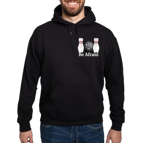 Be Afraid Logo 3 Hoodie (dark) Design Front Pocket