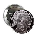 Silver Indian Head Button