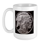 Silver Indian Head Large LH Mug