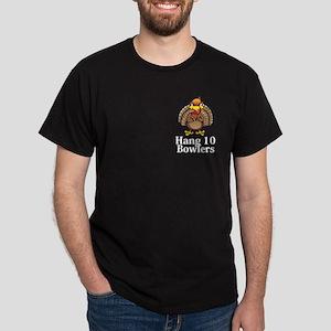 Hang 10 Bowlers Logo 13 Dark T-Shirt Design Front