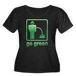 Go Green Women's Plus Size Scoop Neck Dark T-Shirt