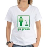 Go Green Women's V-Neck T-Shirt