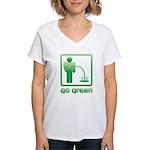 Go Green Women's V-Neck T-Shirt