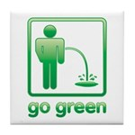 Go Green Tile Coaster