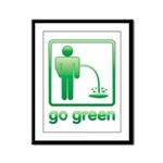 Go Green Framed Panel Print