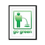 Go Green Framed Panel Print