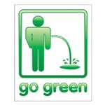 Go Green Small Poster