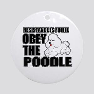 Poodle Ornament (Round)