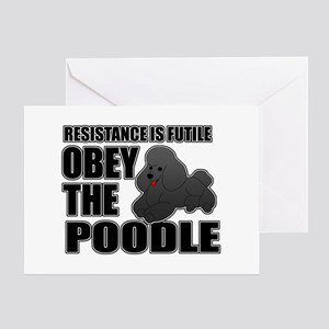 Obey The Poodle Greeting Card