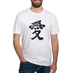 Love Japanese Kanji Fitted T-Shirt