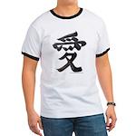 Love Japanese Kanji Ringer T